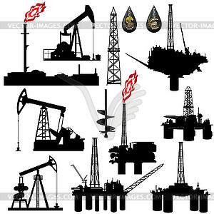 Anlagen für die Ölförderung - vektorisiertes Clipart