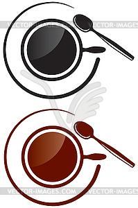 Tasse mit Getränk - Vektorabbildung