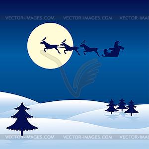 Weihnachtskarte Mit Santa Claus Vektor Klipart