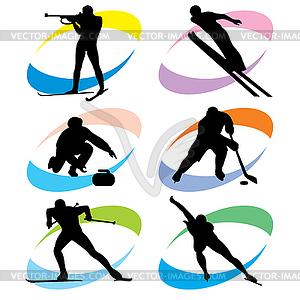 Набор зимних видов спорта - клипарт в ...: vector-images.com/clipart/clp537711/?lang=rus