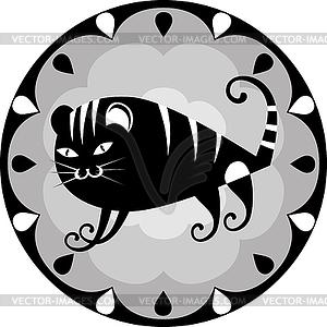 Funny chinesischen Horoskop Tiger - vektorisiertes Bild