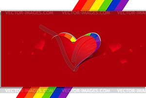 Открытка с геем сердце на День Святого Валентина \\ 'ы - рисунок в век