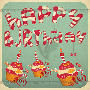 Vintage happy birthday clipart