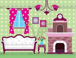 Wohnzimmer   Vektor Clipart / Vektorgrafik