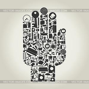 Hand haus Themen - Vektor-Klipart