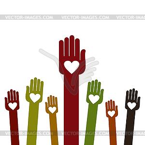 Hände - Vector-Clipart / Vektor-Bild