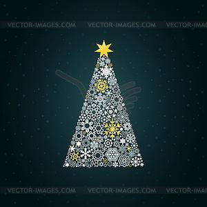 weihnachtsbaum und schnee vector clipart eps. Black Bedroom Furniture Sets. Home Design Ideas