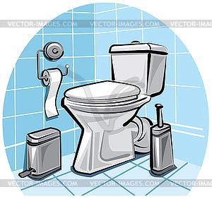 toilette vektorgrafik. Black Bedroom Furniture Sets. Home Design Ideas