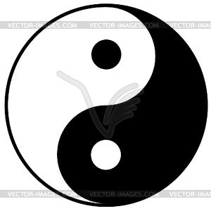 Yin-Yang-Symbol - Vektor-Design