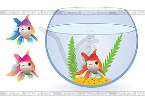 Aquarium und Fische - Vektor-Klipart