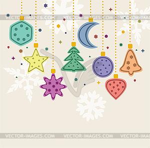 vektor weihnachten urlaub dekoration stock vektor bild. Black Bedroom Furniture Sets. Home Design Ideas