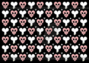 Emo gothic valentine wrapper - vector image