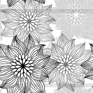 nahtlose muster mit hand zeichnen blumen blumen vektorabbildung. Black Bedroom Furniture Sets. Home Design Ideas