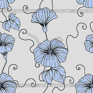 nahtlose muster mit hand zeichnen blumen blumen royalty free vektor clipart. Black Bedroom Furniture Sets. Home Design Ideas