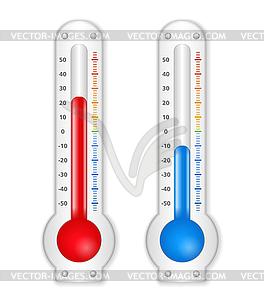 Термометры - векторизованный клипарт