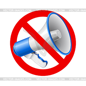 No Audio allowed sign - vector image