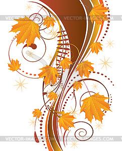 Herbst Ornament mit Ahornblätter - Vektorgrafik-Design