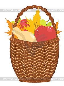 Korb von Birnen und Äpfel - Vector-Clipart / Vektor-Bild