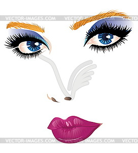 Schöne Frau Gesicht - Vektor-Skizze