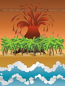 Volcano Insel - Vector-Clipart / Vektor-Bild