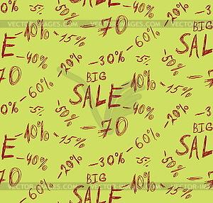 Große Verkaufs Hintergrund - farbige Vektorgrafik