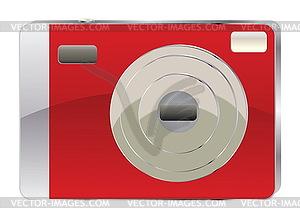 Red Digitalkamera - Vector Clip Art