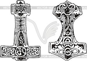 Hammer von Thor - Vector-Clipart