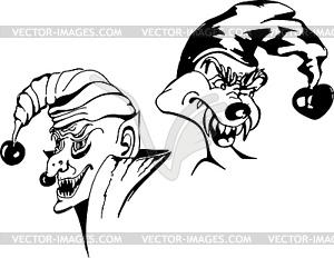 Boshafter Joker - Vektor-Clipart / Vektorgrafik