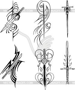 Tribal Blade-Designs - Vektor-Bild