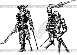 Zwei Piraten - vektorisiertes Clipart