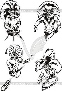 Schamanen der amerikanischen Ureinwohner - Vektor-Bild