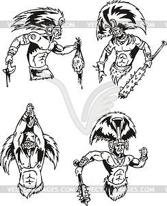 Schamanen der amerikanischen Ureinwohner - Vector-Design