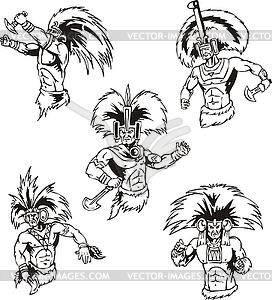 Schamanen der amerikanischen Ureinwohner - Vector Clip Art