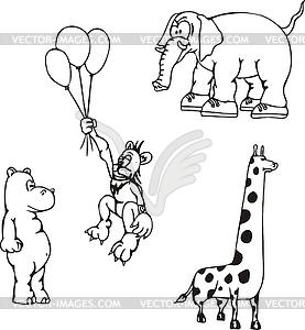 Afrikanische Tier-Cartoons - Vektor-Clipart