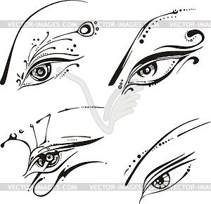Stilisierte Augen - Vector-Design