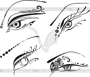 Stilisierte Augen - Vector-Clipart / Vektor-Bild