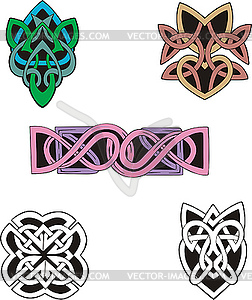 Knoten-Dekorations - Vector Clip Art