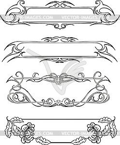 Schlanke Dekorative Rahmen - vektorisiertes Design