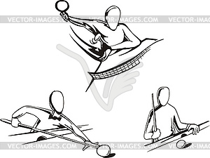 Pool und Ping-Pong - Vector-Bild