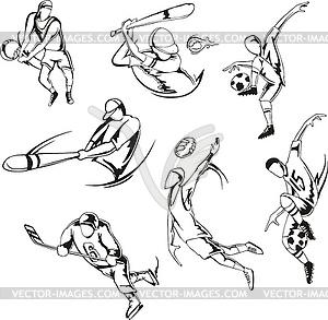 Mannschaftssport - Clipart-Bild
