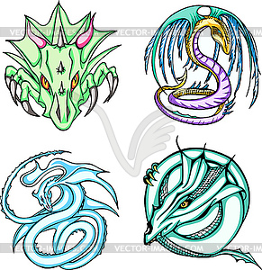 Round Dragon Designs - Vektor-Illustration