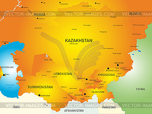 Zentralasien - Vektor-Bild