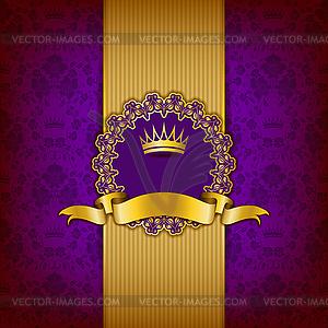 Luxus-Hintergrund mit Ornament, Rahmen - Vektorgrafik-Design