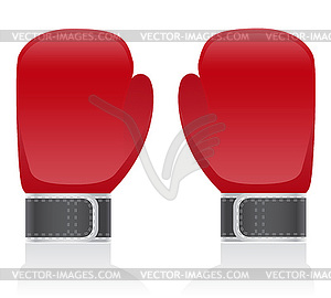 Blaue Boxhandschuhe - Royalty-Free Vektor-Clipart