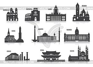 Silhouetten der Städte - Royalty-Free Vektor-Clipart