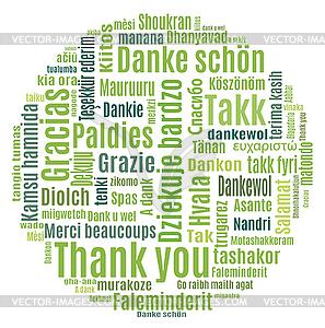 Danke - Stock-Clipart