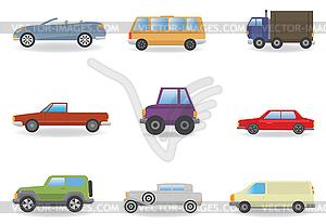 Автомобили. набор - векторный графический клипарт