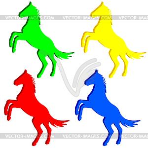 Aufbäumen Pferd Silhouette - Vektor Clip Art