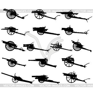 Field artillery - vector EPS clipart