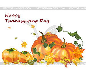 Thanksgiving day background - Stock-Clipart